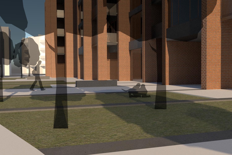 Stanovanjski blok z modularno zasnovo